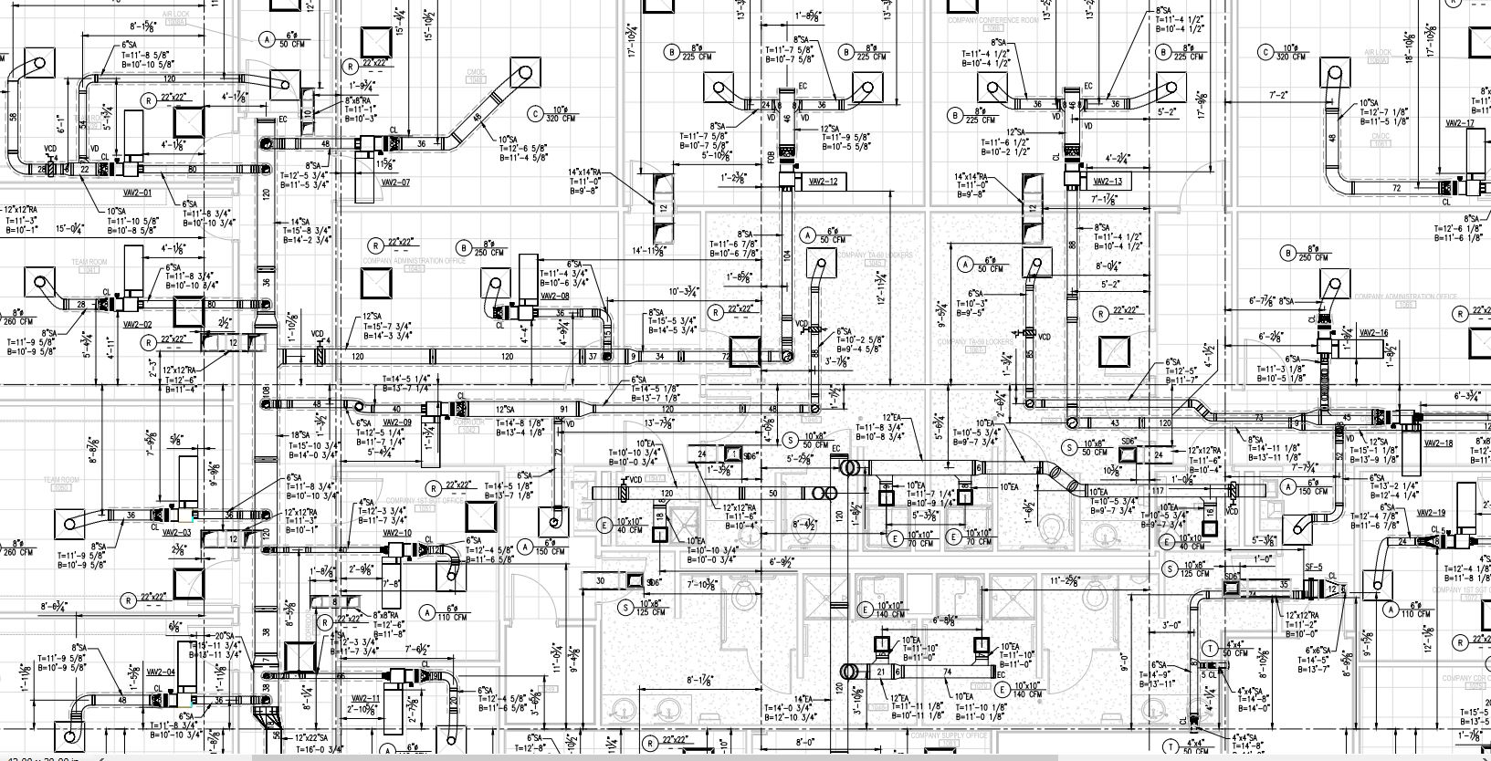 Hvac Installation Drawing Wiring Library Duct In Autocad 2d Or Shop Drawings Virtual Design Engineering