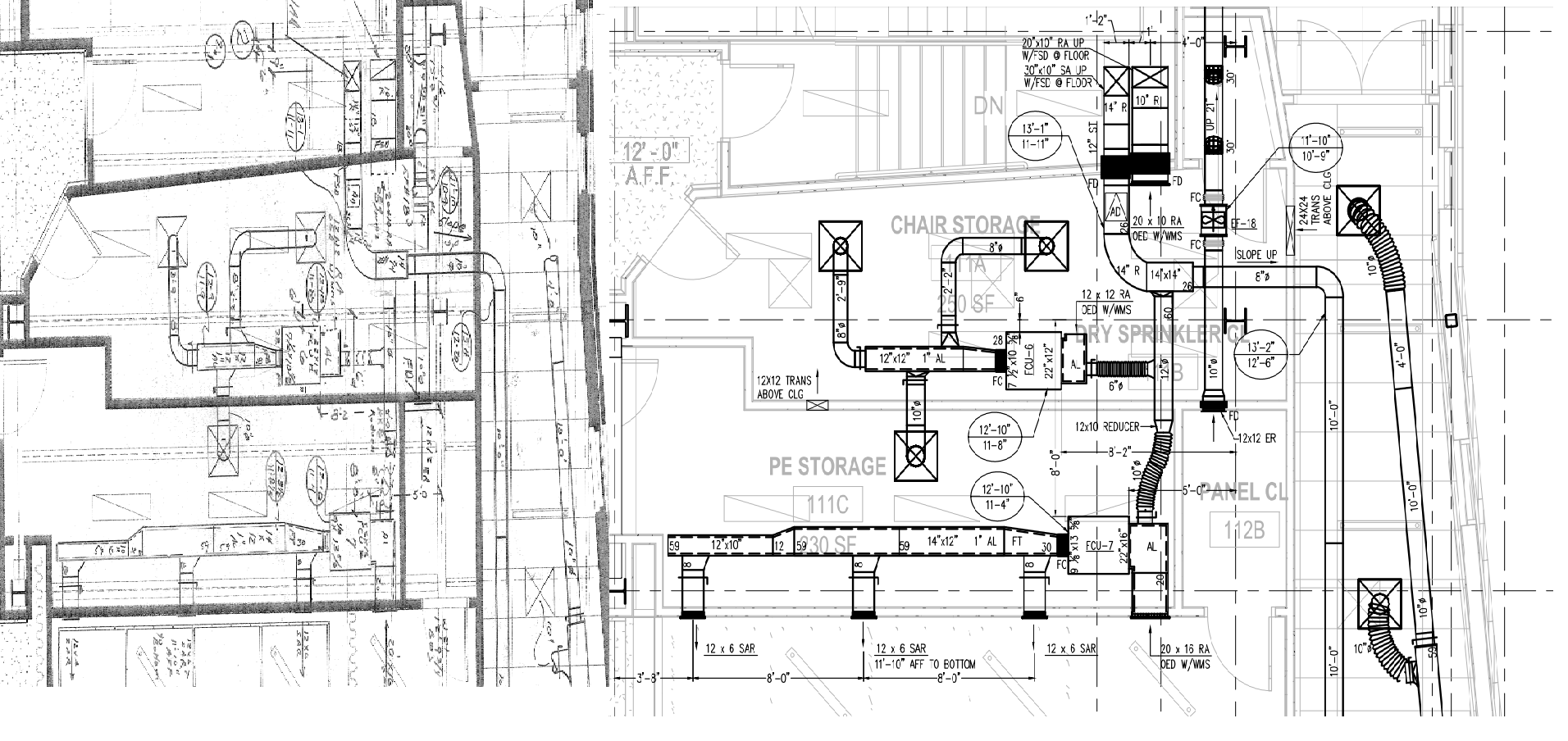 2d Or Shop Drawings Virtual Design Engineering Hvac Drawing Review As Built